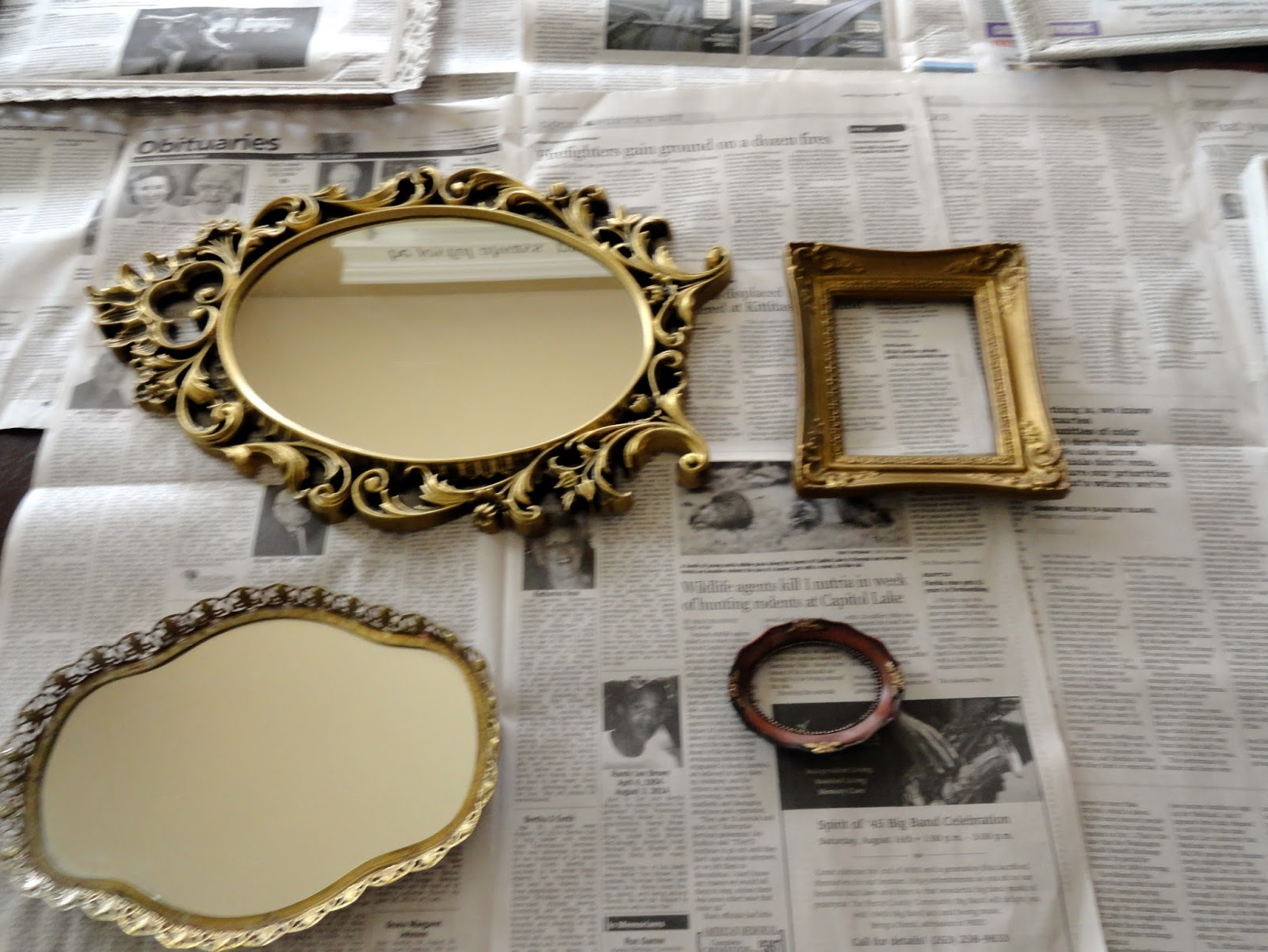 Vintage Mirror And Frame Gallery Wall For Under 40