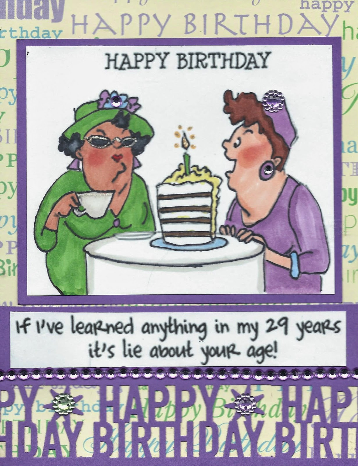 My Afrocentric Creations June 2014 – Old Friend Birthday Card