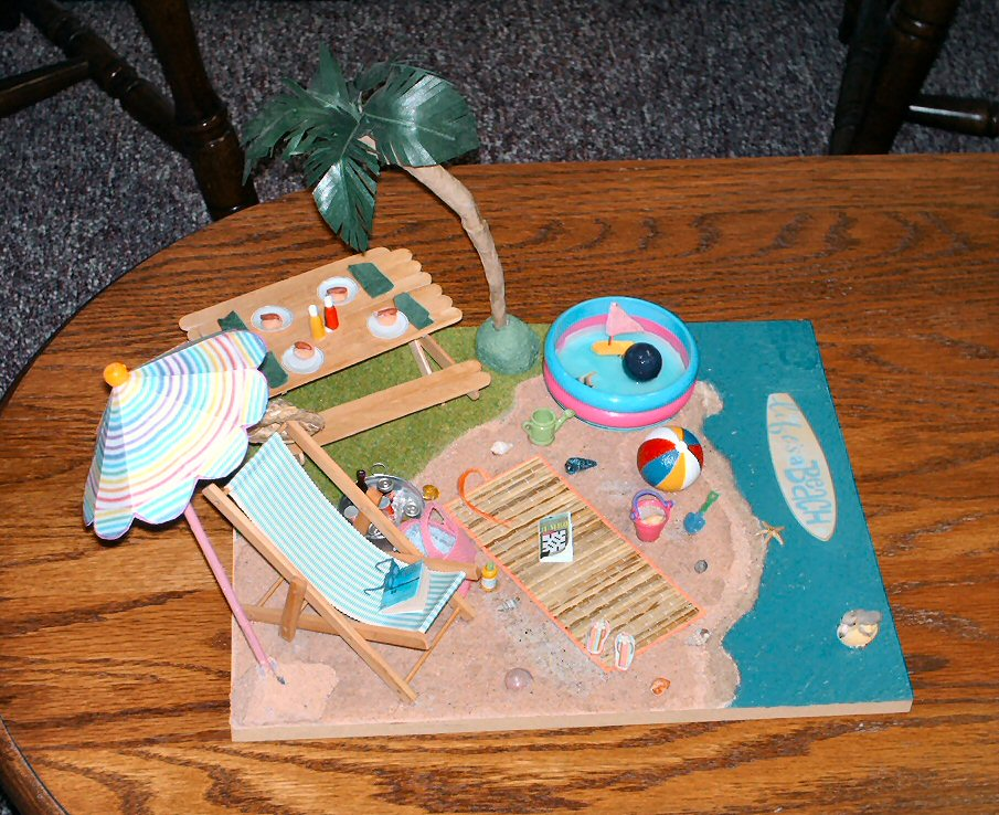 Anna Was The First To Make A Beach Scene Then Stephanie Wanted One We Made This  Years Ago I Think