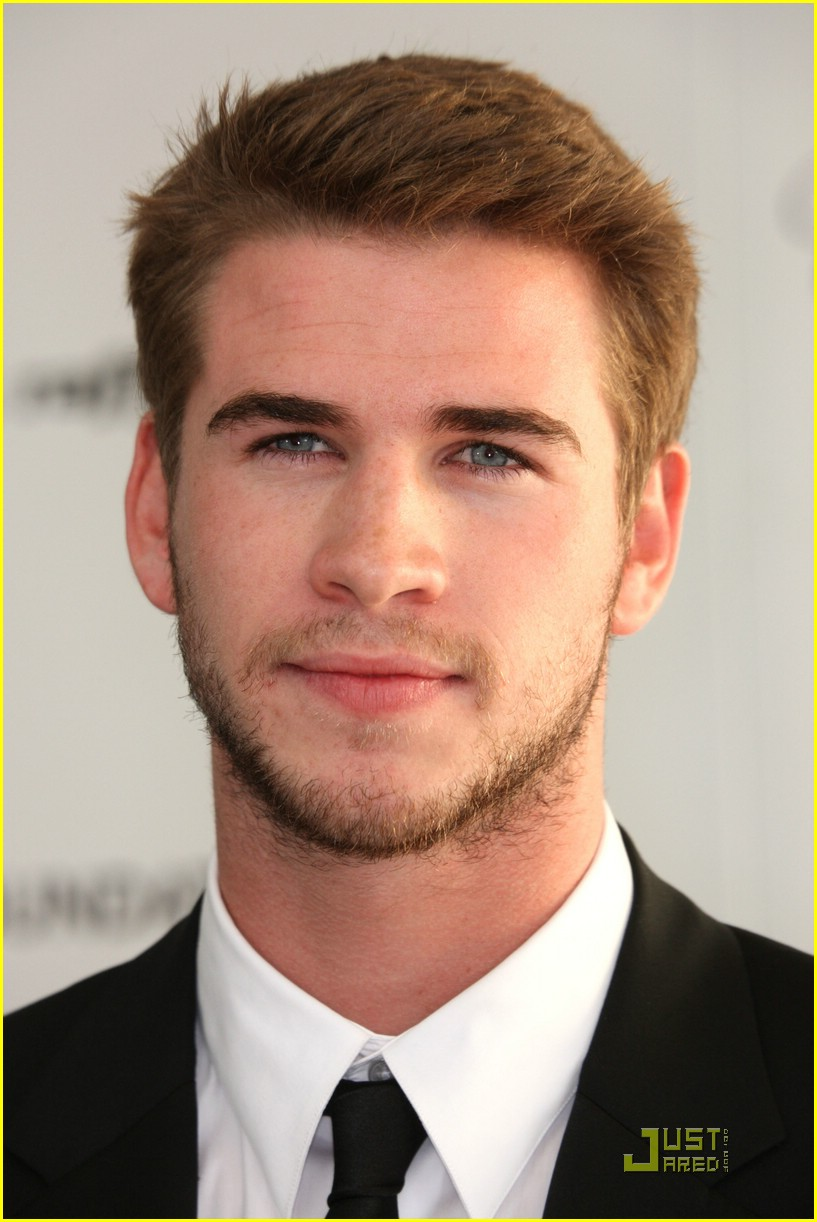 Hairy handsome man Liam Hemsworth from Australia.