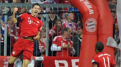Lewandowaki Cukur Wolfsburg Dalam Waktu Sembilan Menit 5 Gooool, WOW!