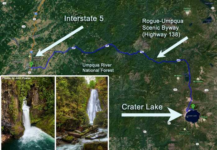 The Jewel Of Central Oregon Crater Lake Try Something Fun - Oregon waterfalls map