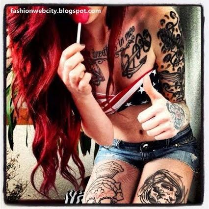 Lovely Tattoos for Girls Photos