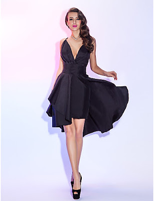 Vestido Coctel negro de Verano