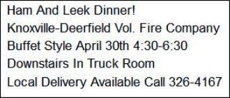 4-30 Ham & Leek Dinner, Knoxville