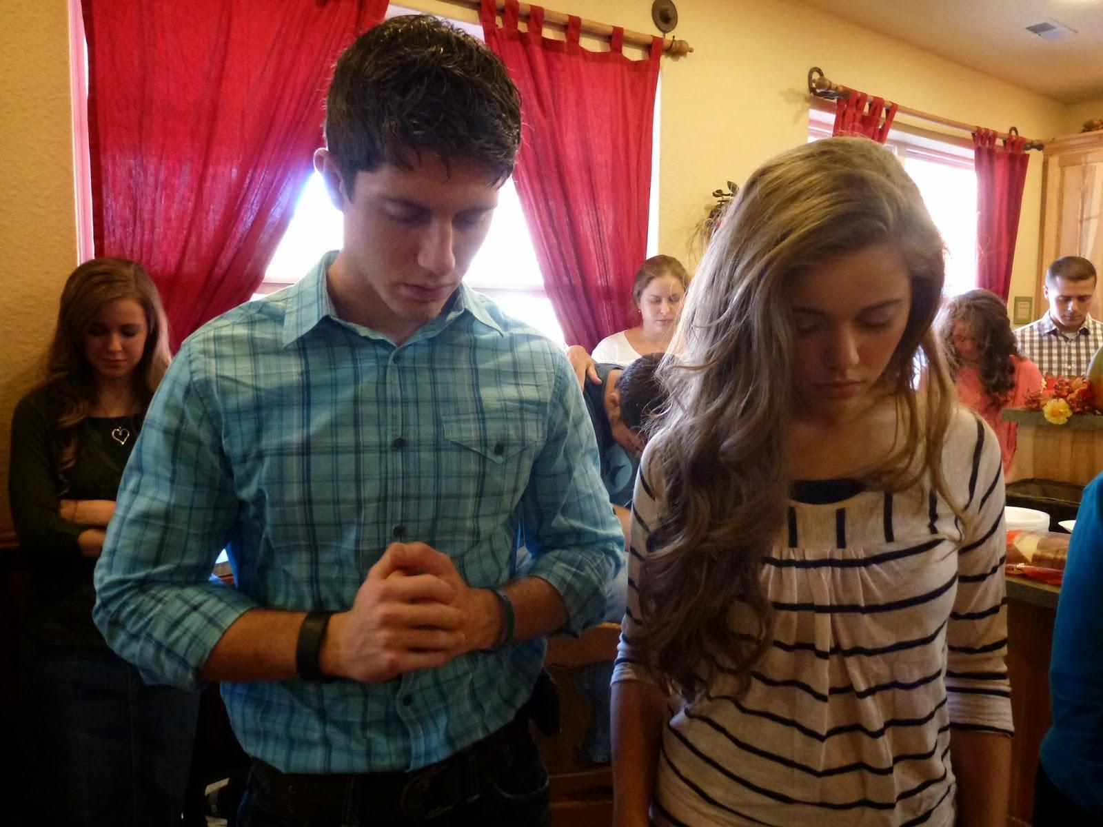 John David Duggar And Erin Bates Engaged Praying at the bates' house