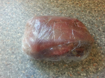 Beef Joint in Cling Film