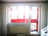 Ablakcsere utáni javítás gipszkartonnal.