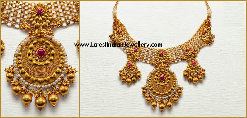 Designer Bridal Gold Necklace from Azva