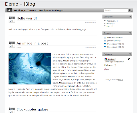 iBlog Blogger Theme