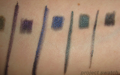 Fierce Blue, Powerful Purple, Fearless Teal, Strong Slate swatches