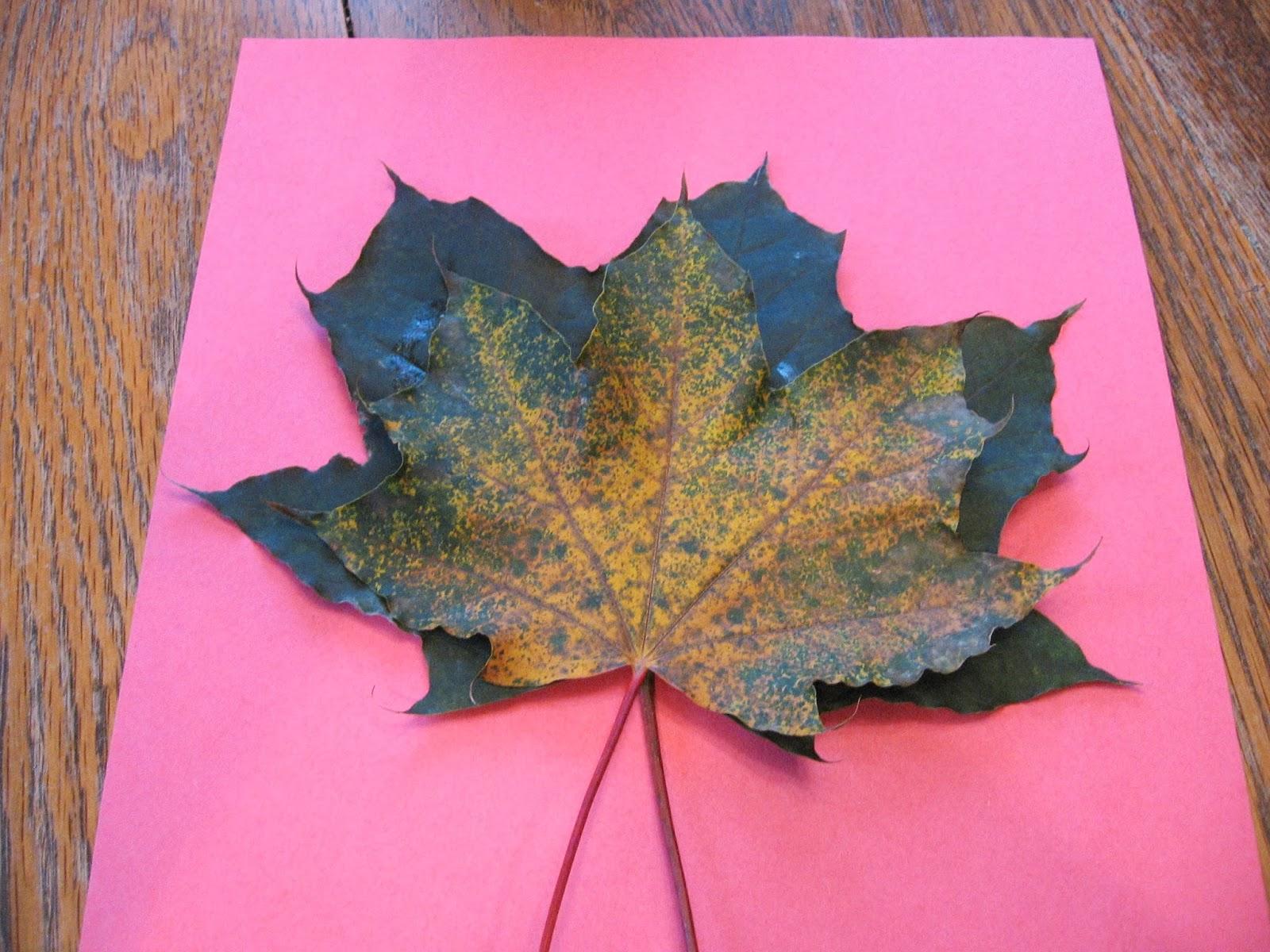 Поделки из клёновых листьев 685