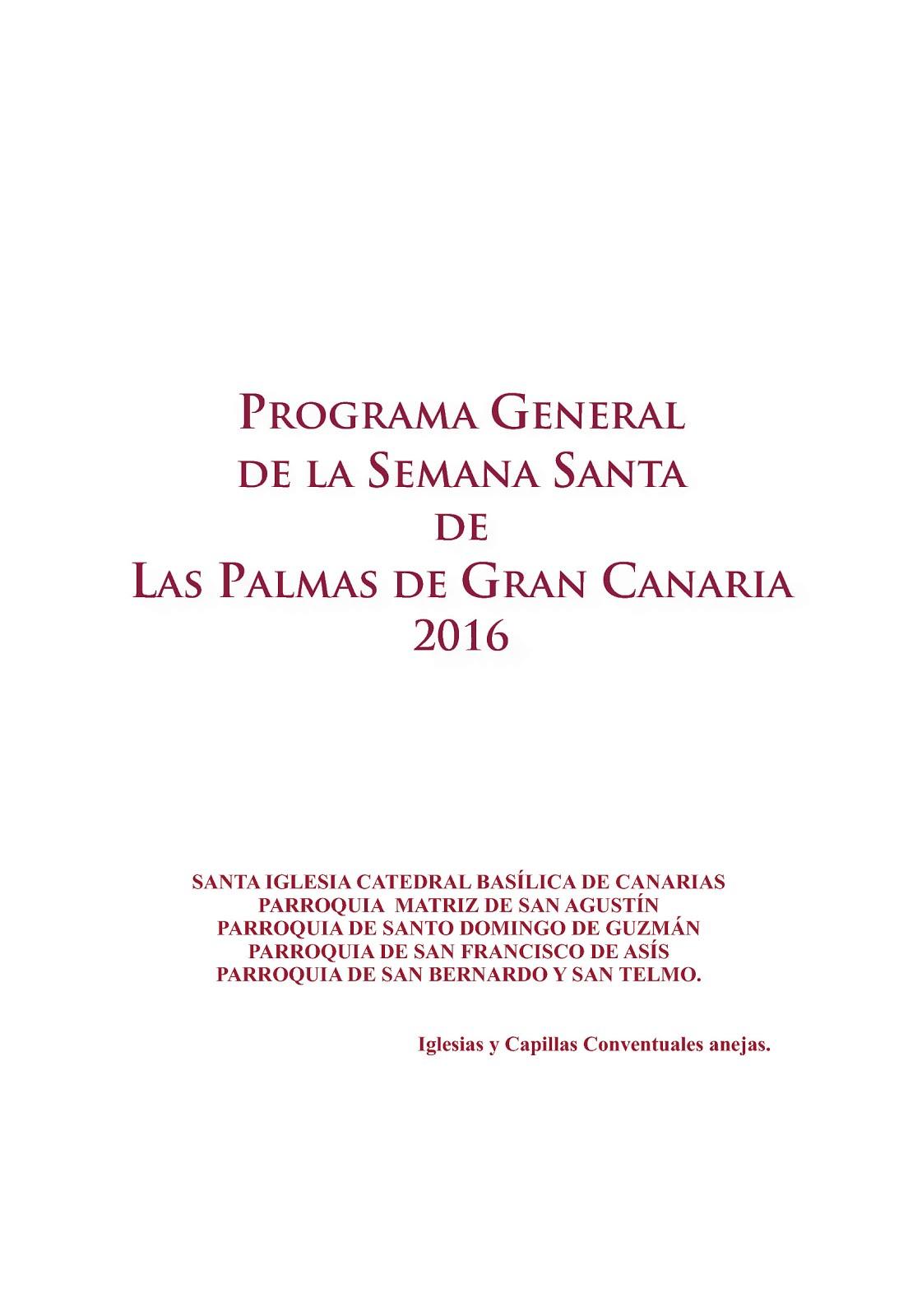PROGRAMA SEMANA SANTA 2016