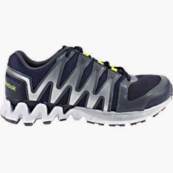 Reebok Zigkick Tahoe Road 2 Men's Running Shoes has a breathable mesh upper and a low-cut design for mobility.