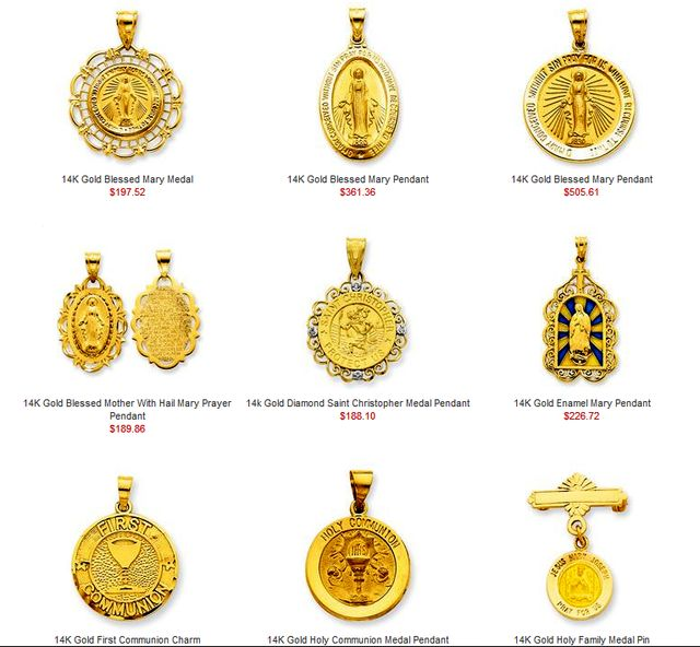 Patron Saints Medals Religious Jewelry as a gift idea at