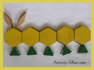 pattern blocks and printable mats