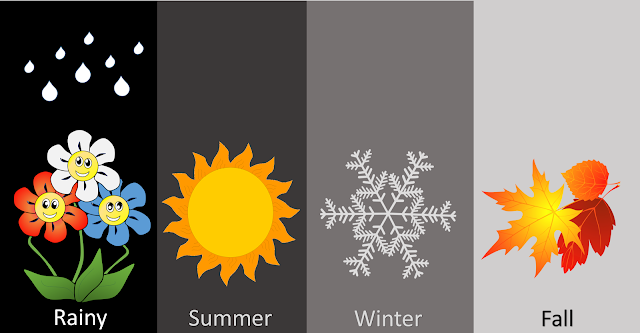 Download Seasons Clipart Image Four Seasons of Spring, Summer, Autumn and Winter
