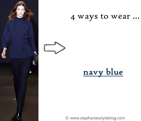 fall trend, navy blue, runway