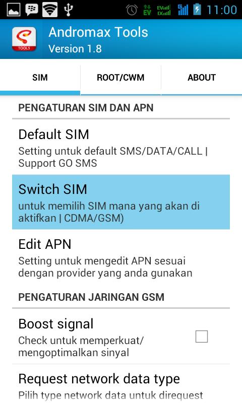 Cara Membuat SIM Card GSM Smartfren Andromax Sebagai Default Akses Data Internet