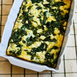 Kalyn's Kitchen®: Kale and Feta Breakfast Casserole Recipe ...