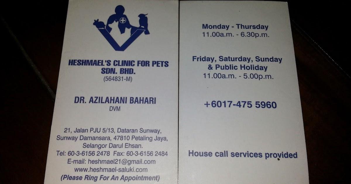 Quot Dunia Kucing Quot Kongsikan Klinik Vet Yang Bagus Yang
