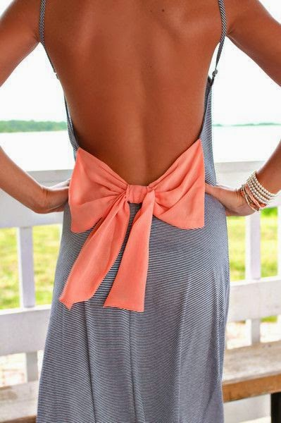 open back maxi dress with bow...love the colors