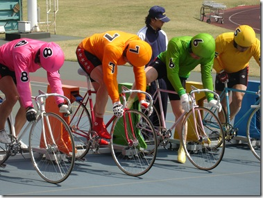 Keirin racing in Japan, don't forget your wallet.