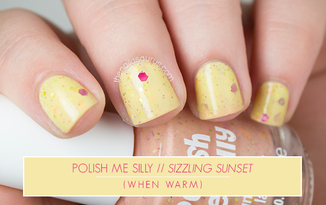 Polish Me Silly Sizzling Sunset when warm swatch // The Nailasaurus