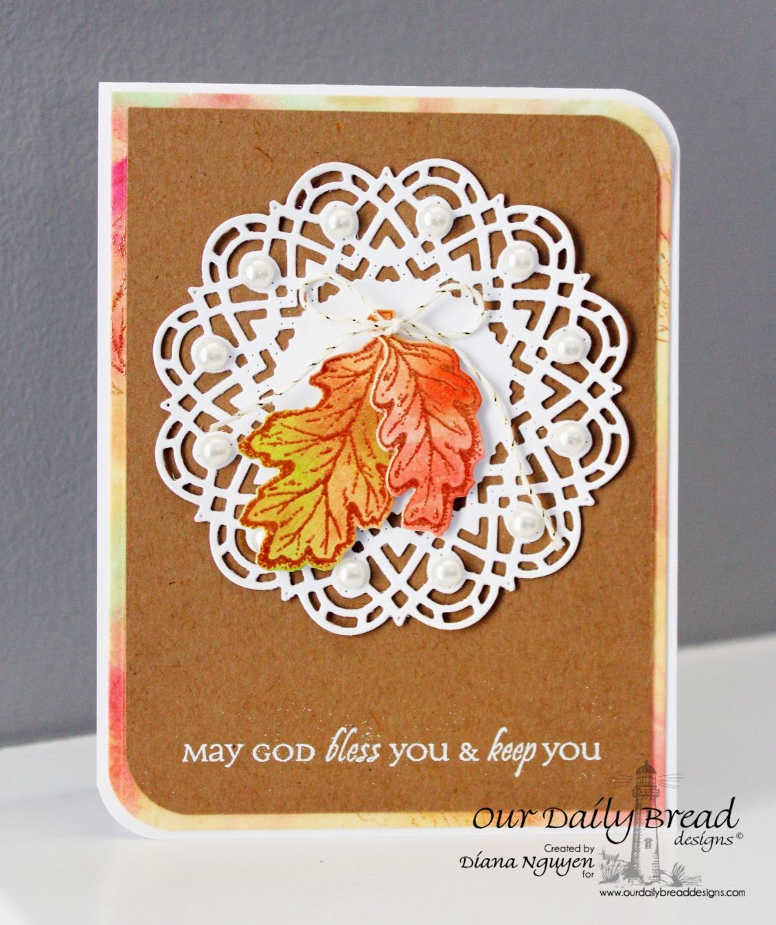 Designed by Diana Nguyen, Our Daily Bread Designs, Autumn Blessings, All Occasions Sentiments, Doily die