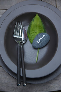 Fork, spoon, rock