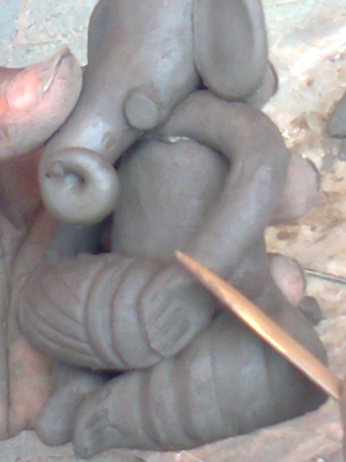 hands of lord ganesh shape