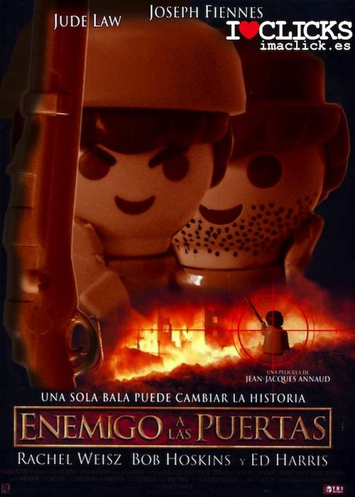 Posters de pel culas con clicks de playmobil imagui for Enemigo a las puertas