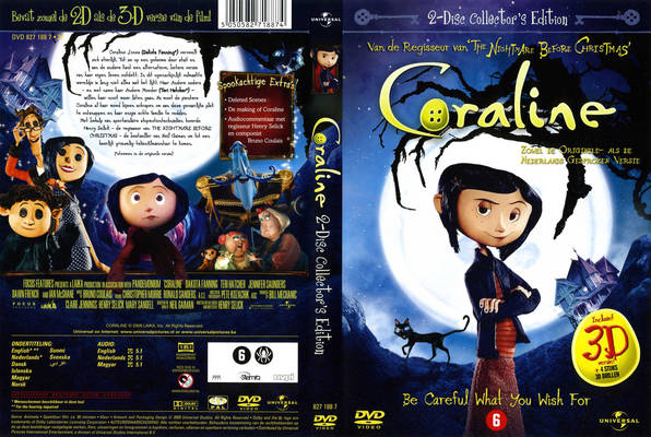 DVD cover front and back Coraline 2009 disneyjuniorblog.blogspot.com