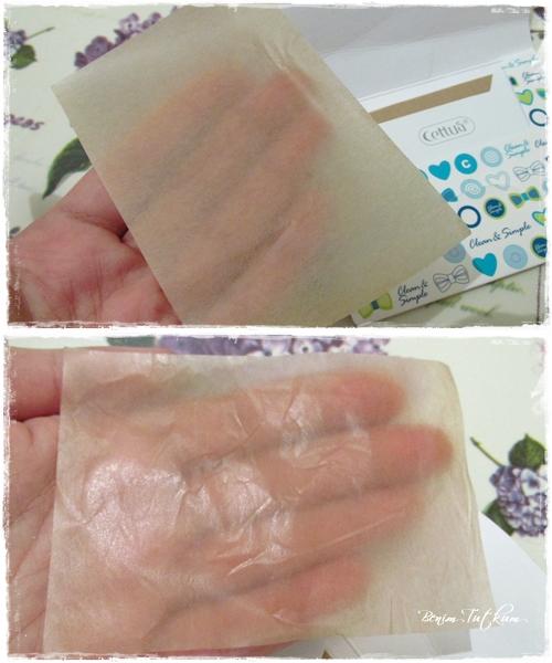 Cettua Yağ Emici Mendil ( Cettua Oil Control Tissue )