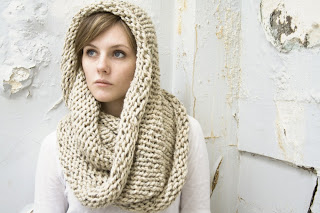 Extra Thick Wool Cozy Cowl Circle Scarf