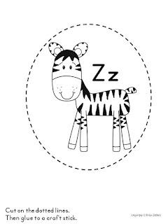 alphabet stick puppets
