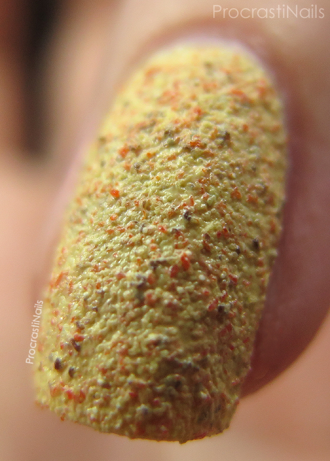 Macro of Kiko Textured Cupcake Nail Lacquer 648 Pineapple