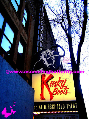 Kinky Boots The Musical Sign at The Al Hirschfeld Theatre