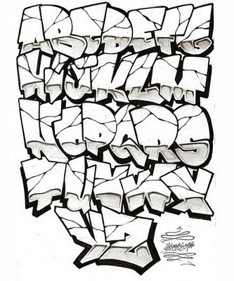 Draw_Graffiti_Alphabets_sketch_A-Z_Stone_design