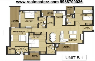 real masterz, real estate, flat, luxury apartment, 4bhk apartment, sushma chandigarh grande, ambala road, zirakpur
