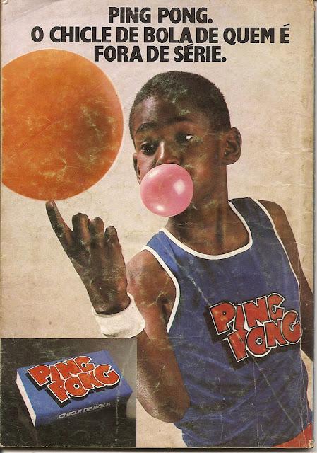 Propaganda do delicioso chicle Ping Pong apresentado em 1984.