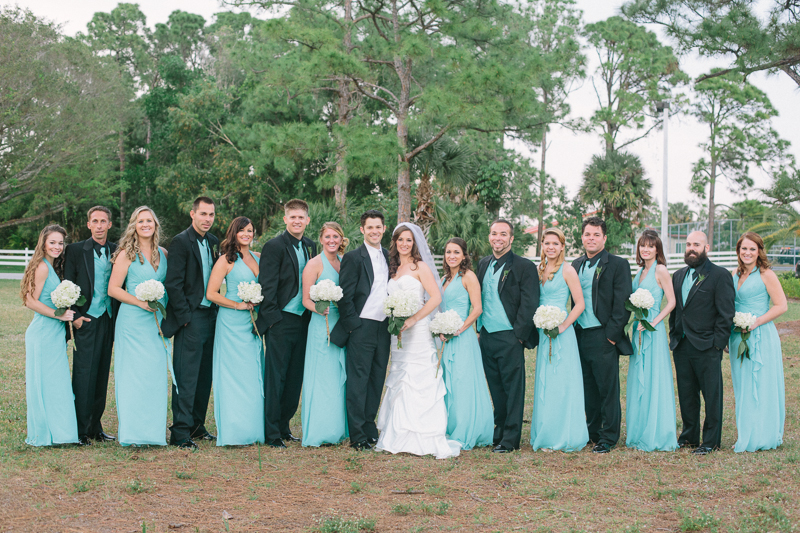 teal and black wedding photo