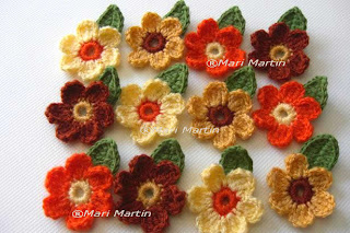 Crochet Flower Applique Fall