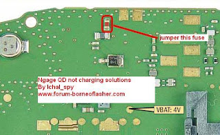 Nokia ngage qd not charging solution