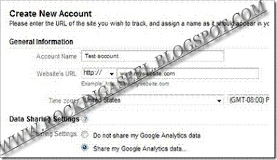 Google analytic Form
