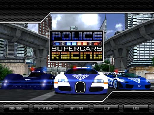 police super cars racing