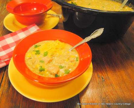 Slow Cooker Green Chili, Chicken and Rice Soup