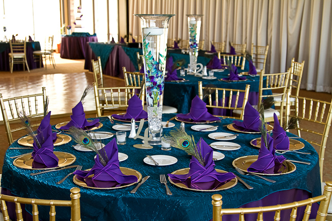 Peacock Theme Las Vegas Golf Course Wedding To Remember