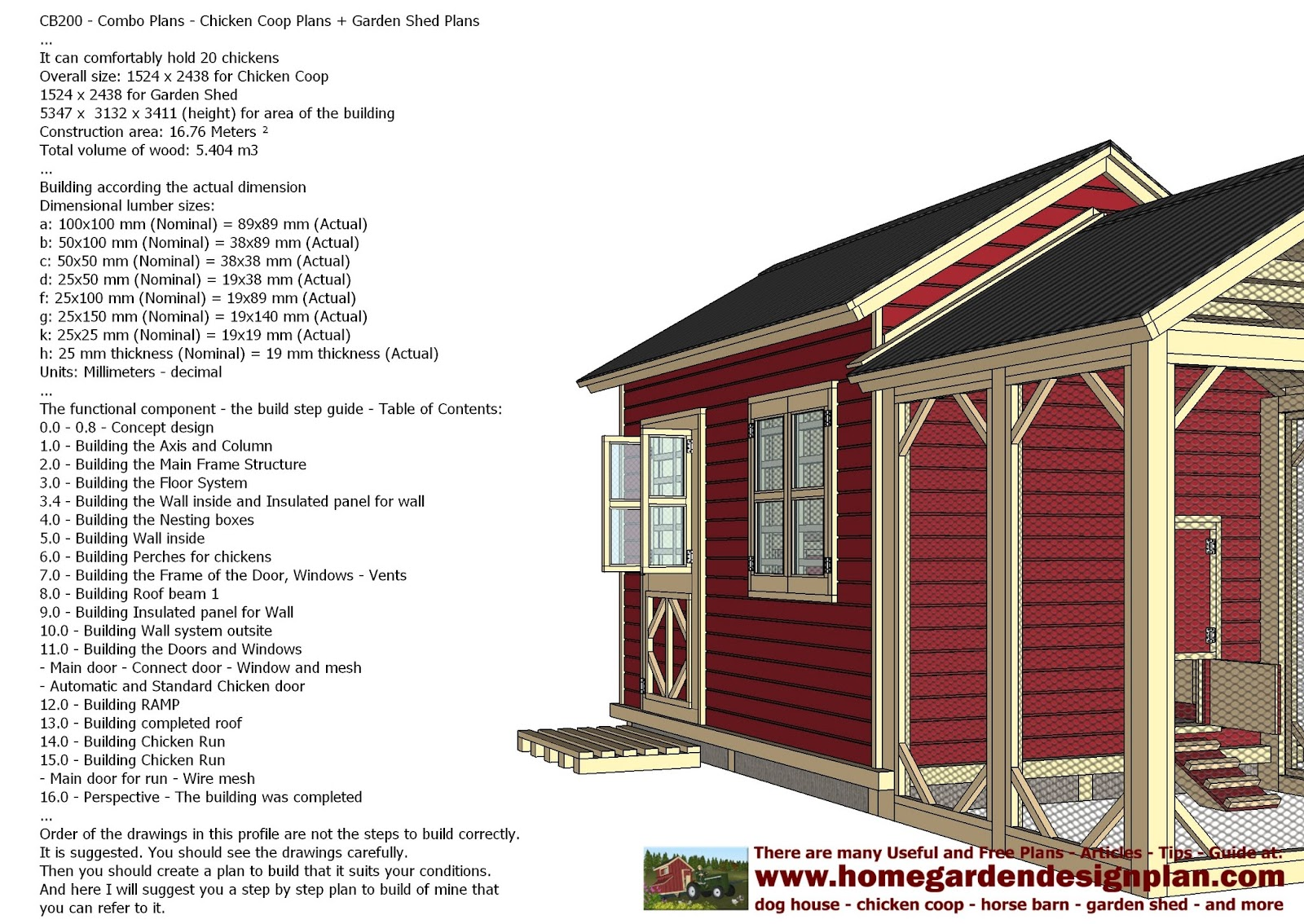 Chicken shed plans pdf diy coop channel for Shed building plans pdf