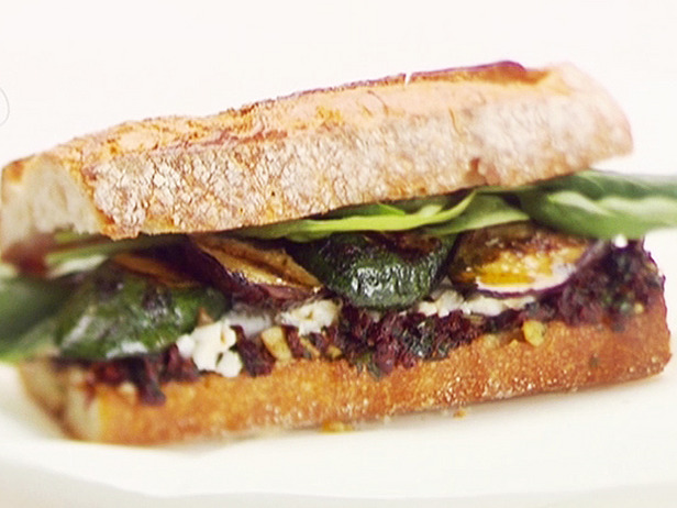 Grilled Vegetable, Herb and Goat Cheese Sandwiches Recipe ...
